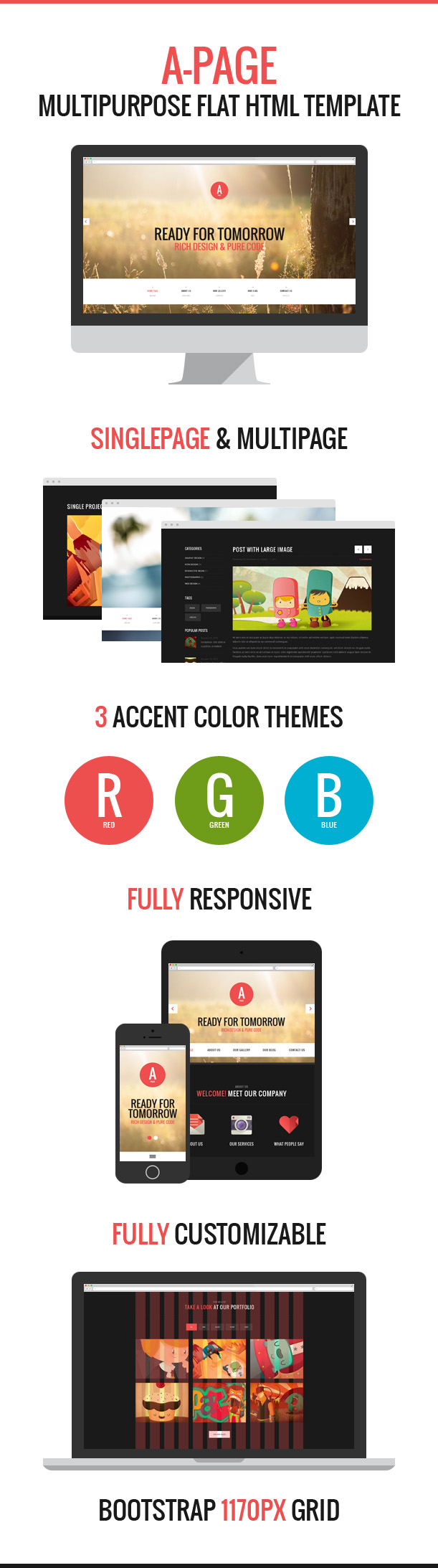 A-Page by DX Templates - multipurpose PSD template