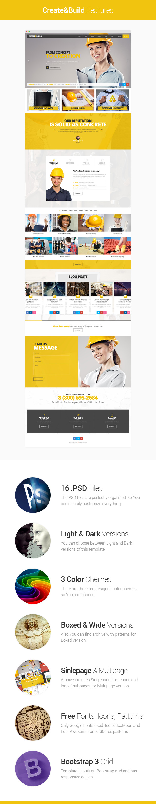 Create & Build - Construction & Building template