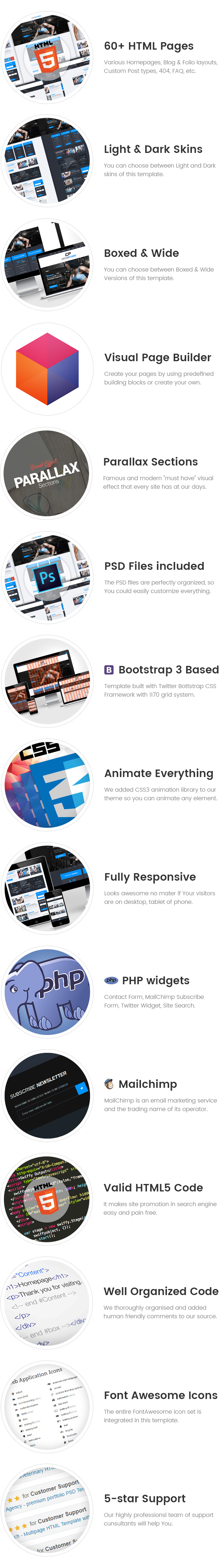CrossPower - Sport Gym Fitness HTML Template with Builder