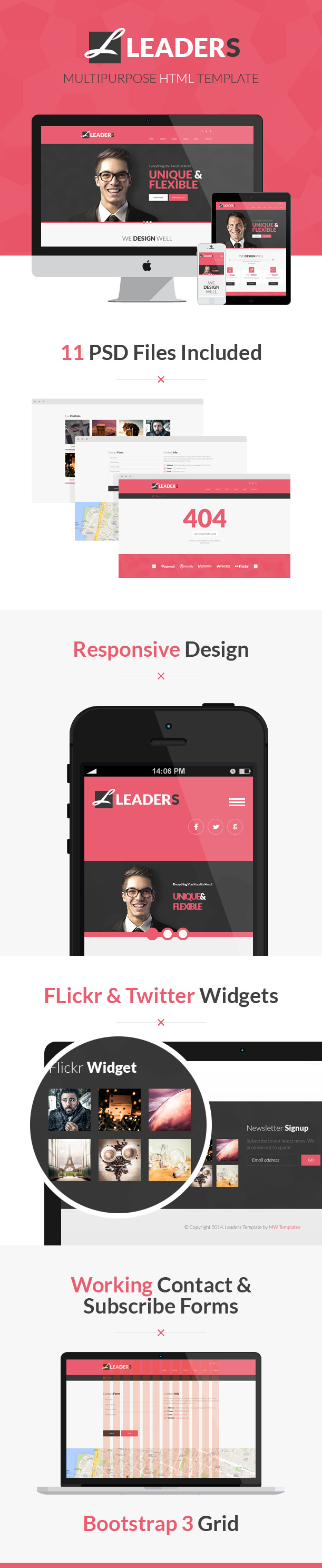 Leaders - bootstrap HTML template