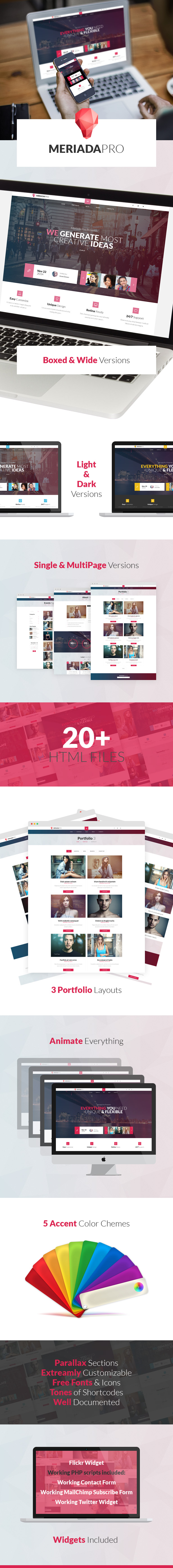 Meriada Pro - Responsive Corporate HTML Template