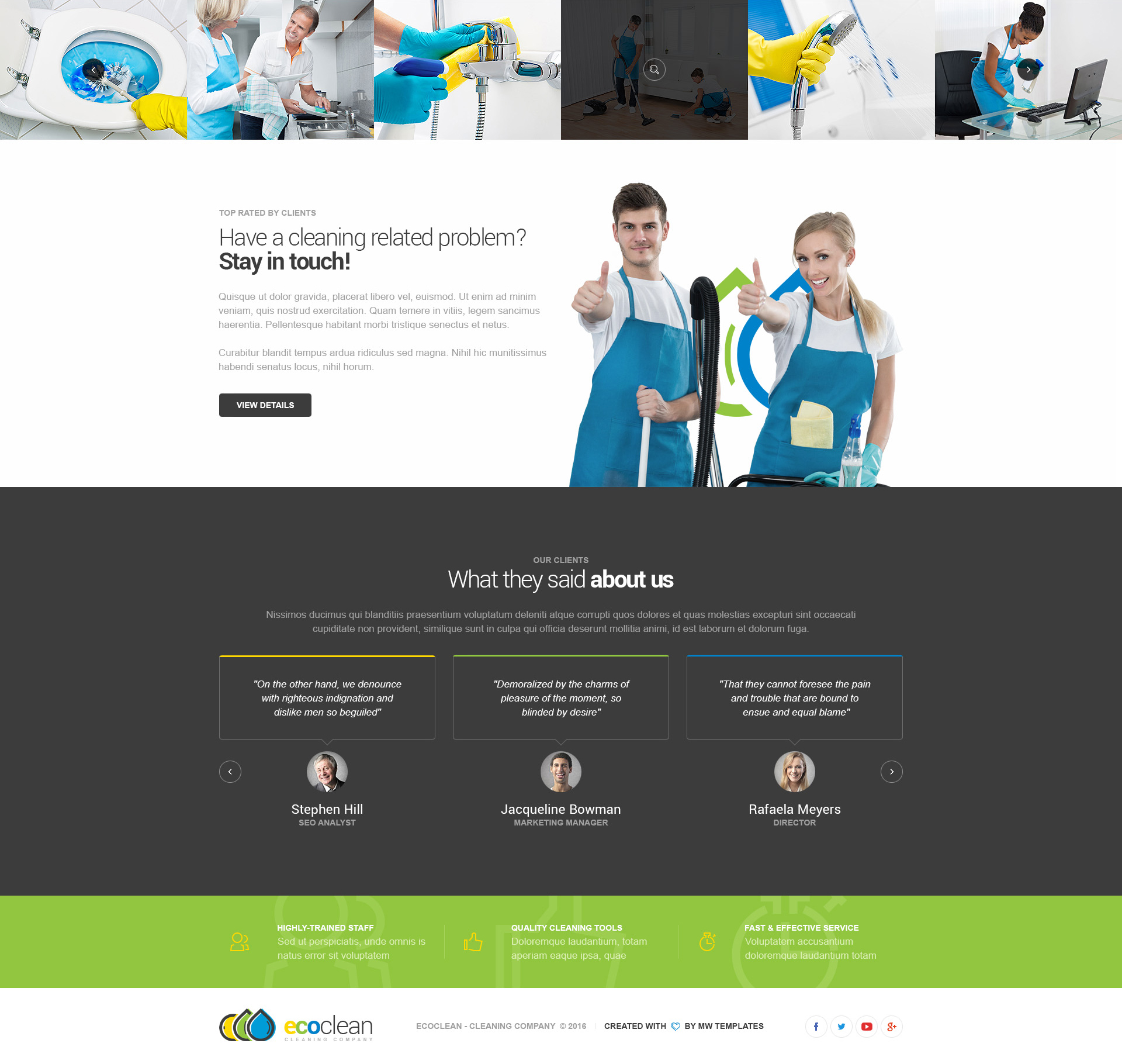 EcoClean – Cleaning Company HTML Template | Modern Web Templates