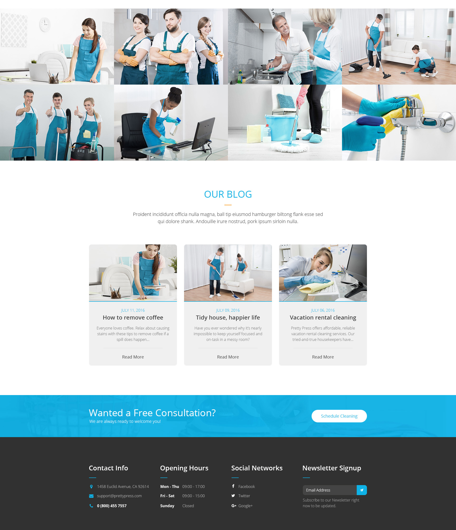 Prettypress Cleaning Service Html Template Modern Web Templates