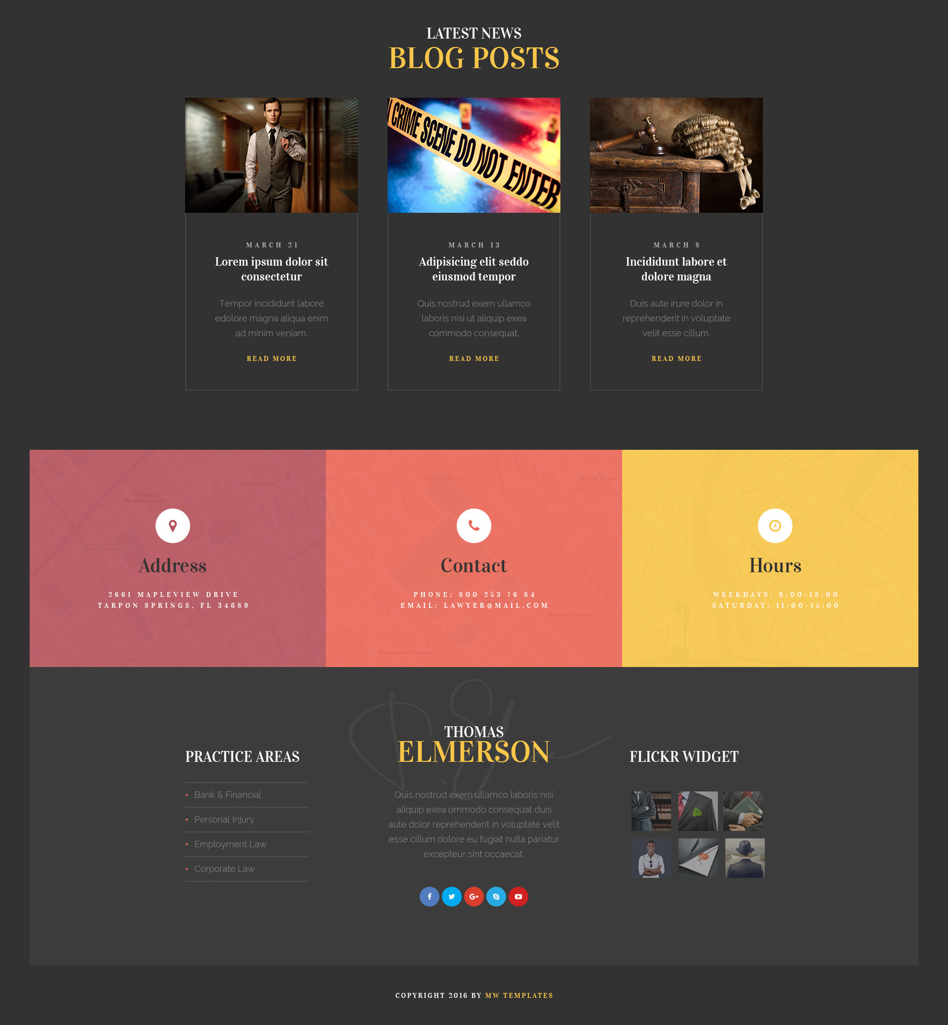 Lawyer & Attorney – Personal Lawyer and Law Company HTML Template ...