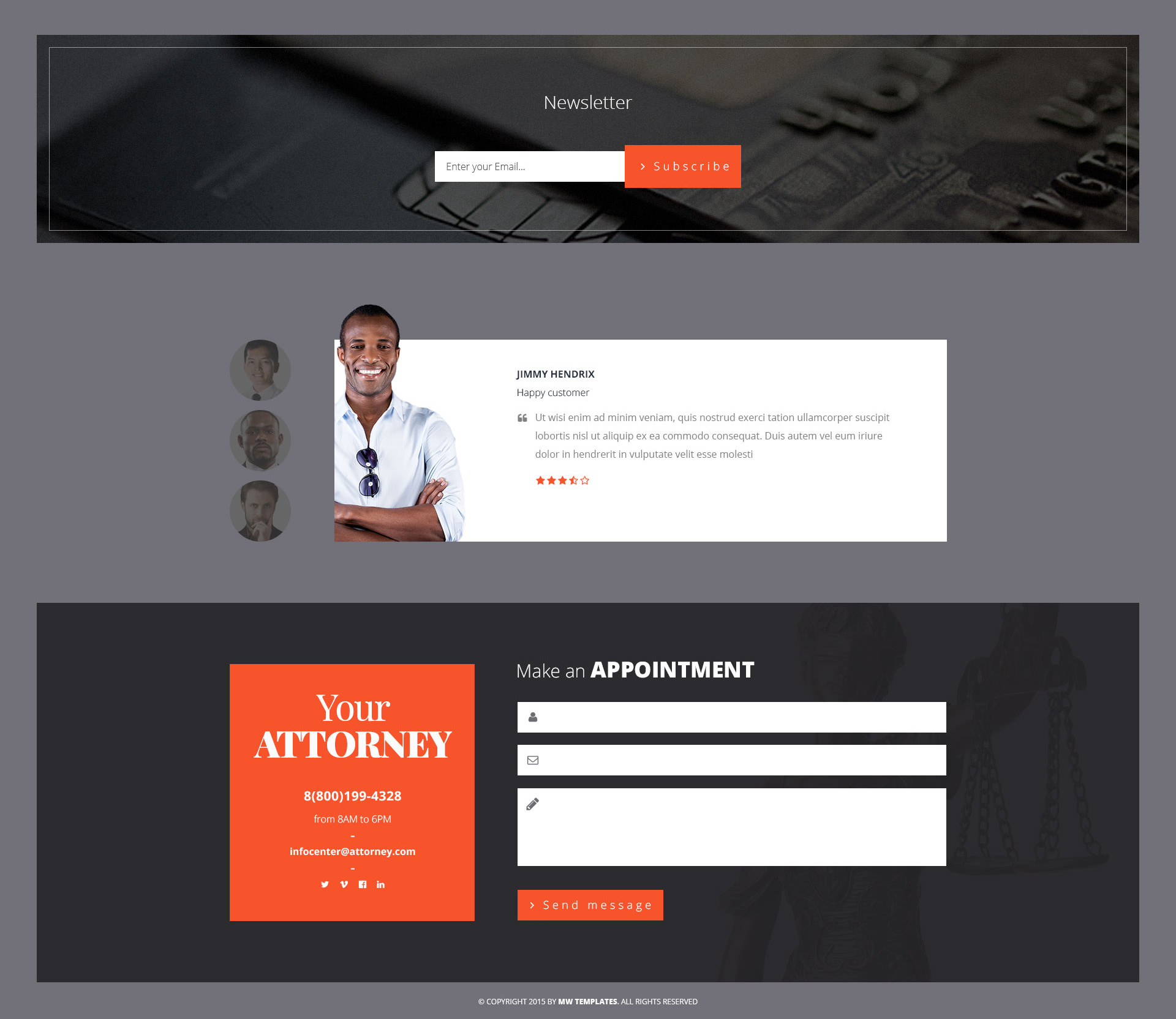 Attorneys – Law Firm/Private Lawyer HTML Template | Modern Web ...