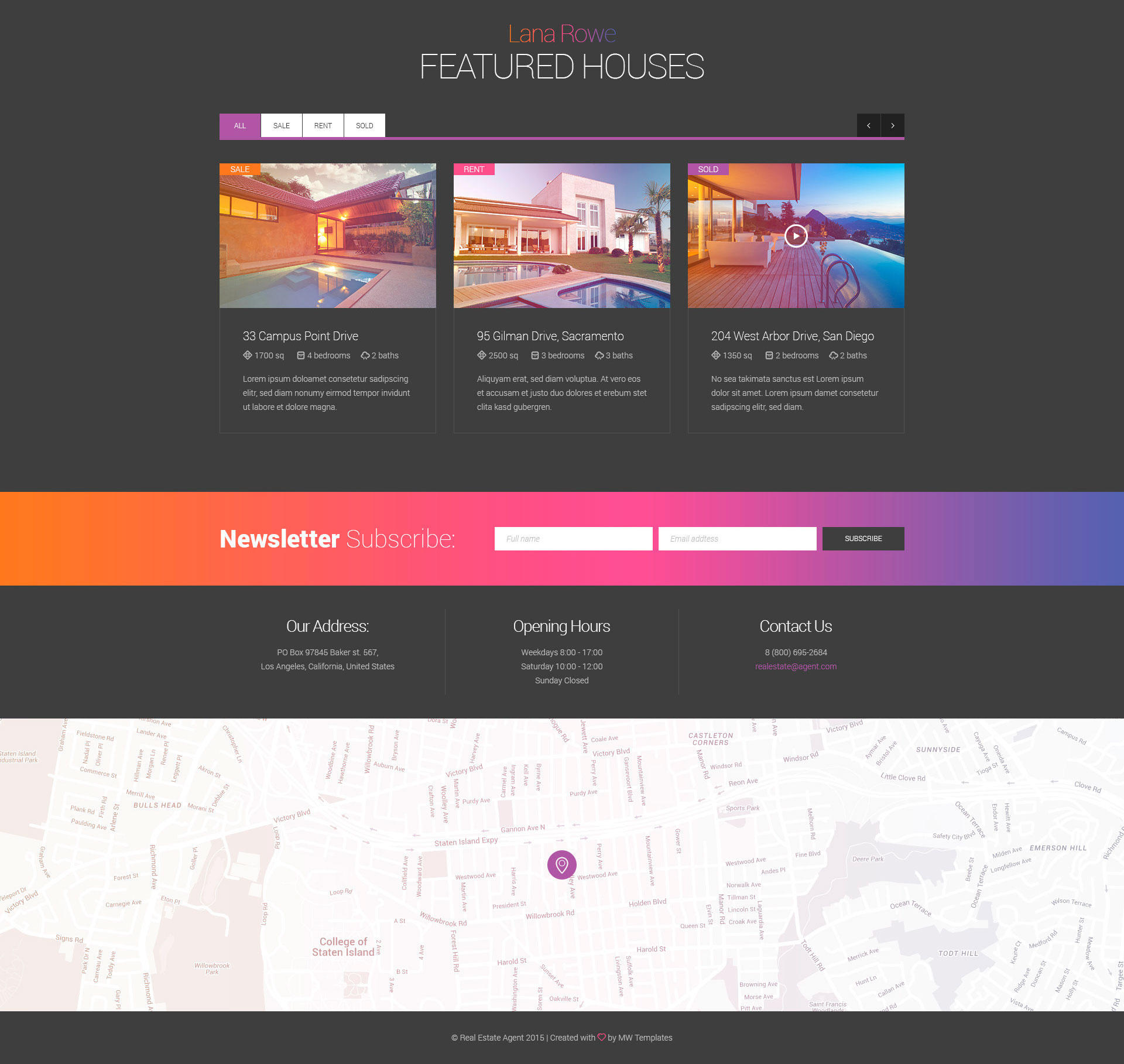 Real Estate – Agent & Single Property HTML Template | Modern Web ...
