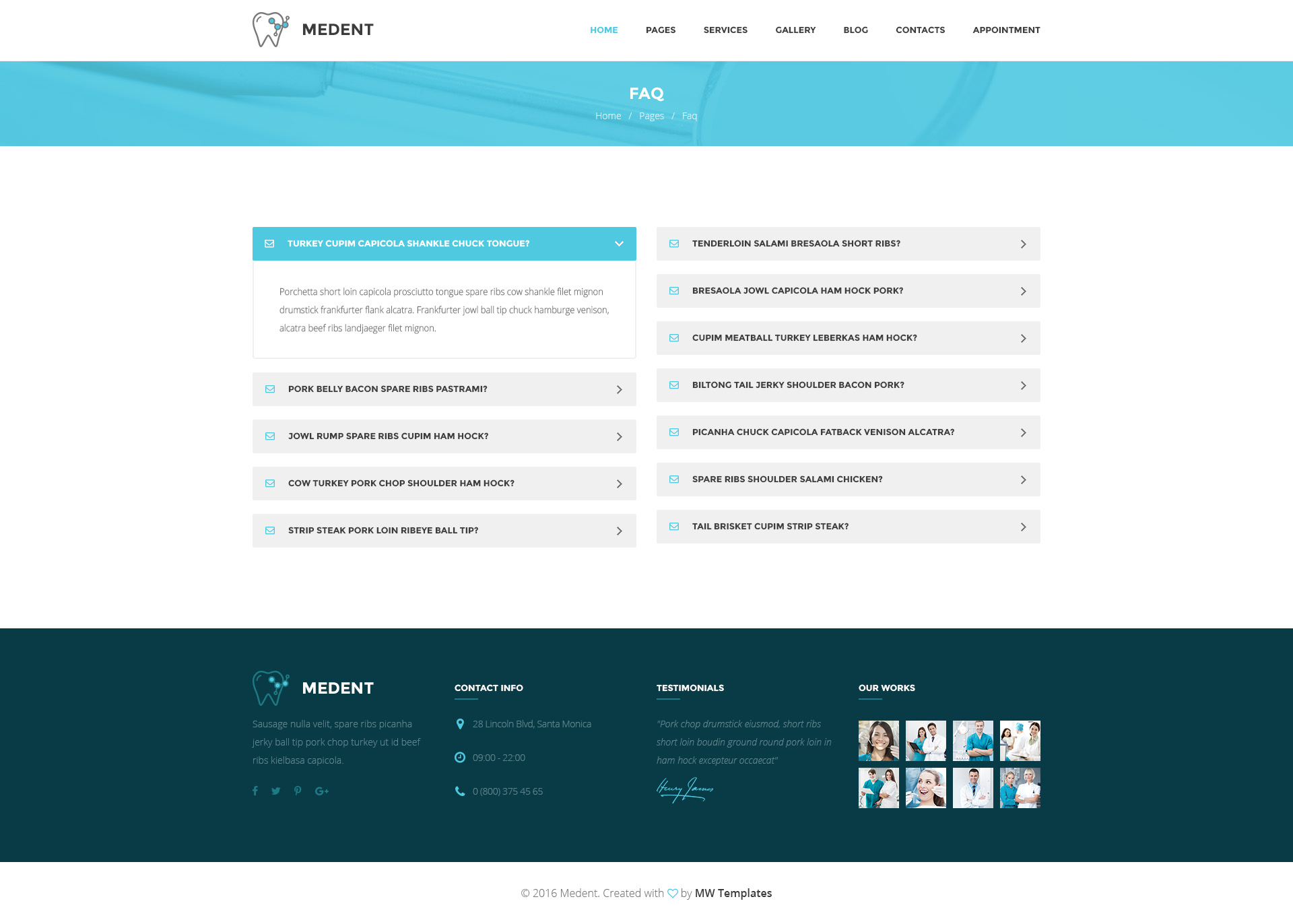 Medent – Dental Clinic WordPress Theme | Modern Web Templates
