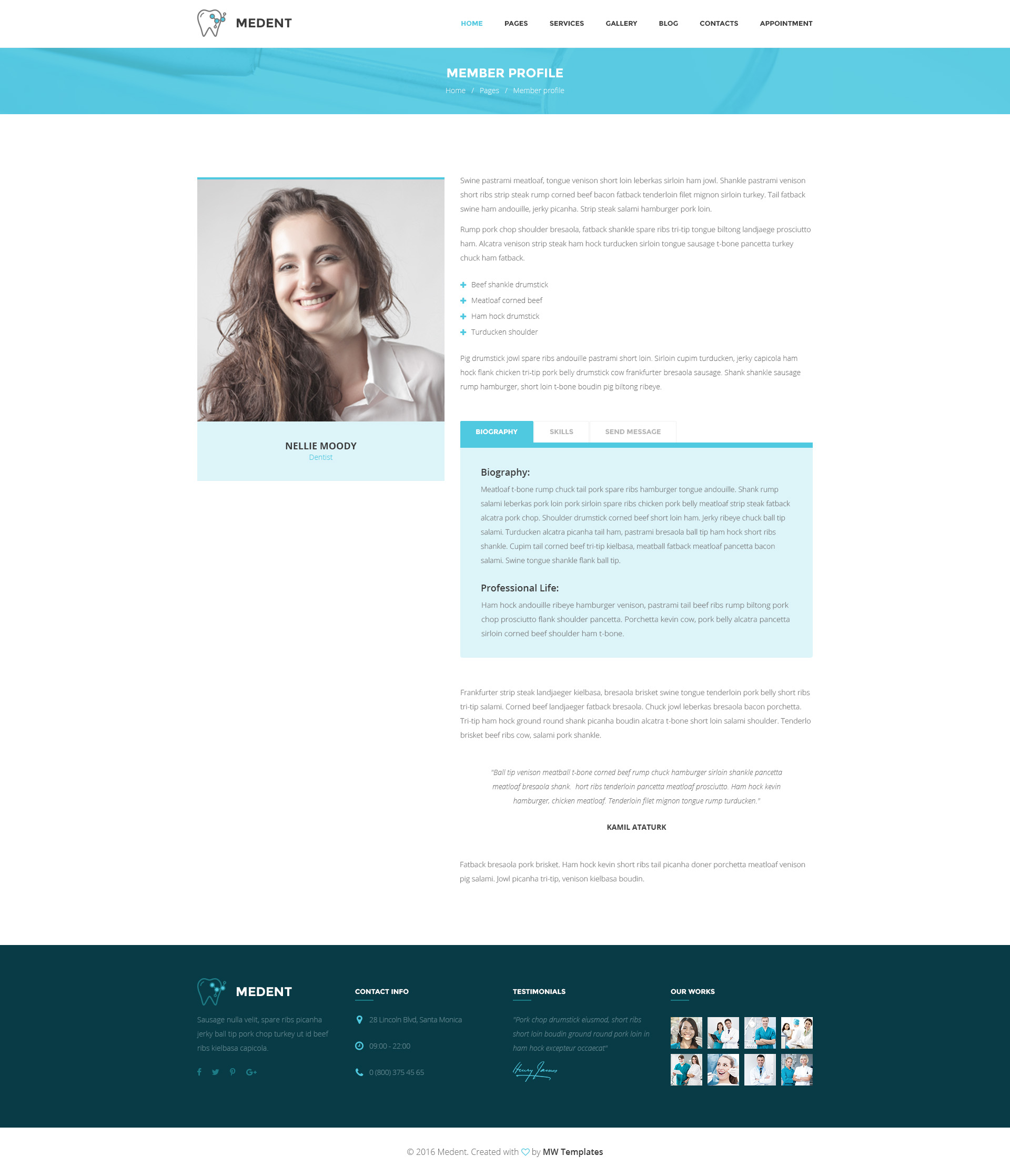 Medent Dental Clinic Html Template Modern Web Templates