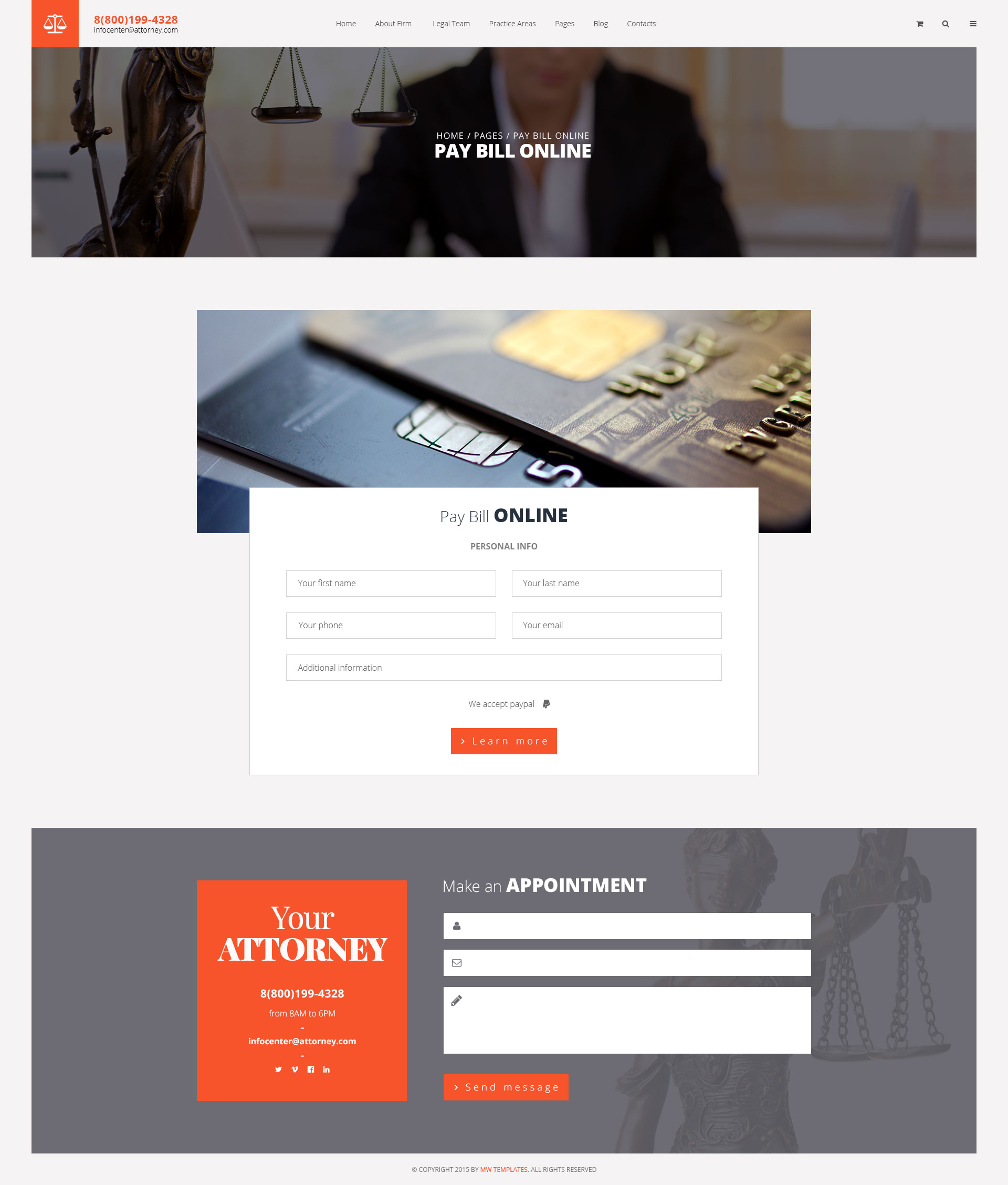 Attorneys Law Firm Private Lawyer Html Template Modern Web Templates