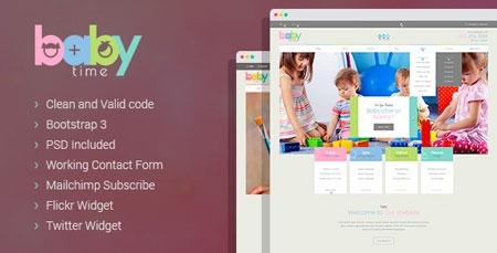 babytime babysitter nurse and preschool education html template