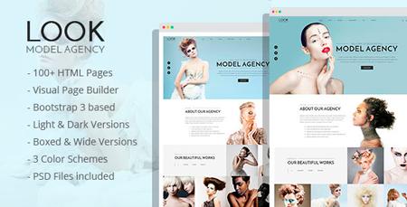 look model agency html template modern web templates. Black Bedroom Furniture Sets. Home Design Ideas