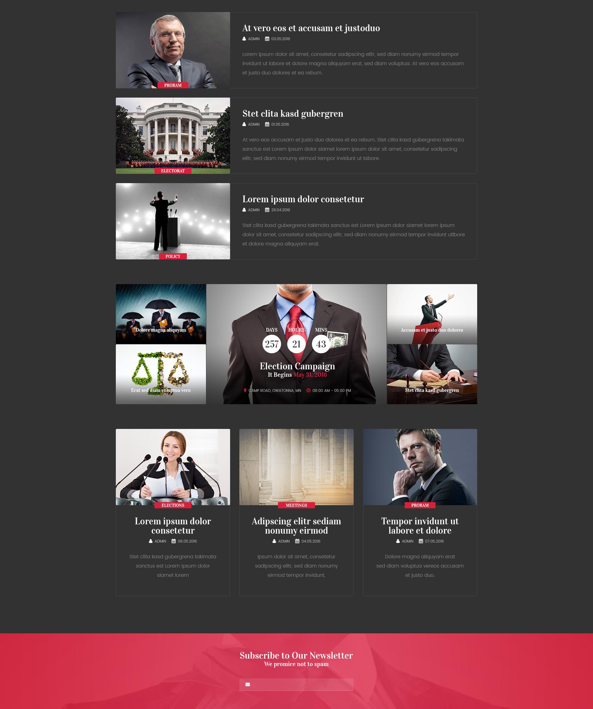 Political Candidate – Politician HTML template | Modern Web Templates