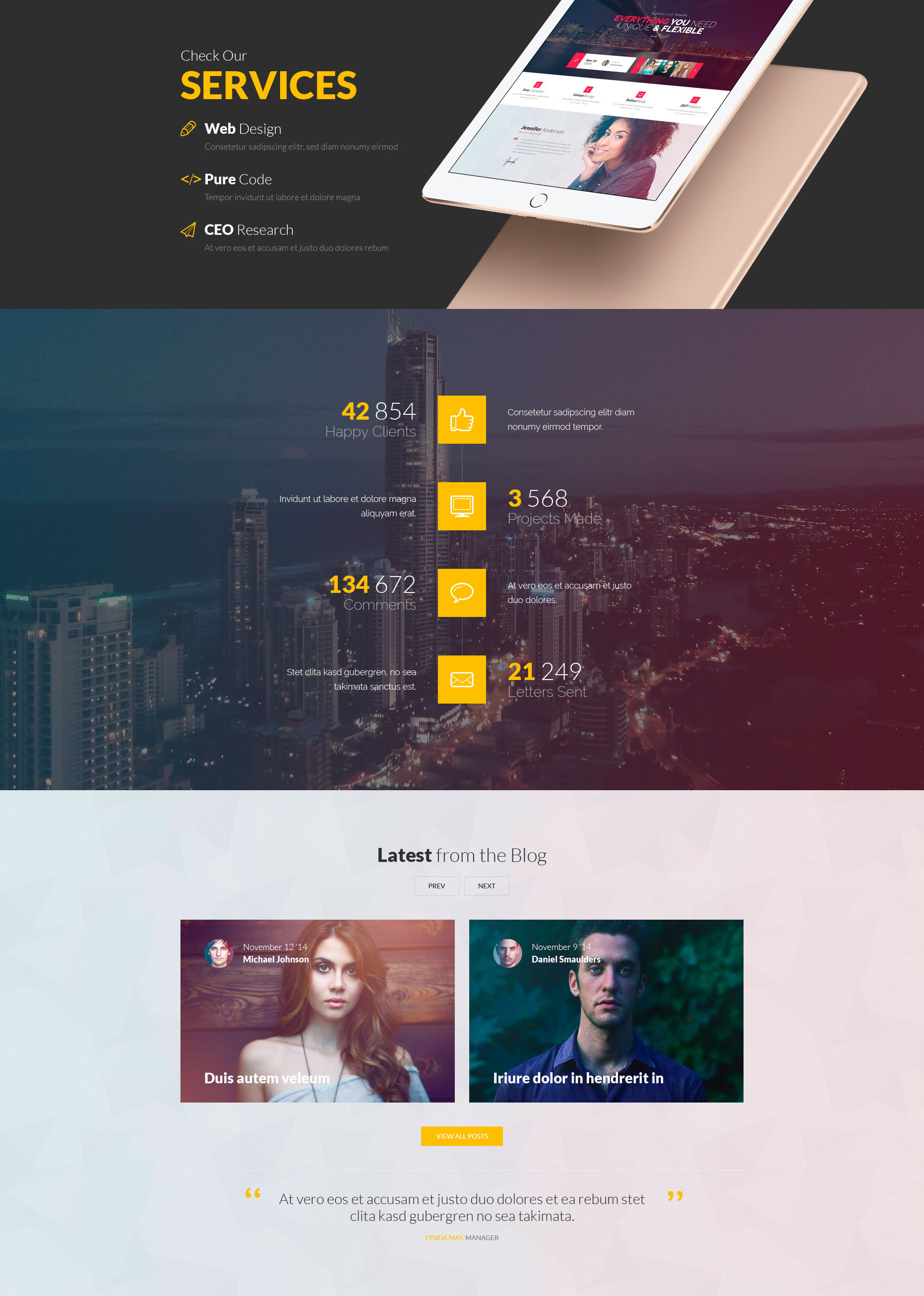 Meriada Pro – Responsive Corporate HTML Template | Modern Web Templates