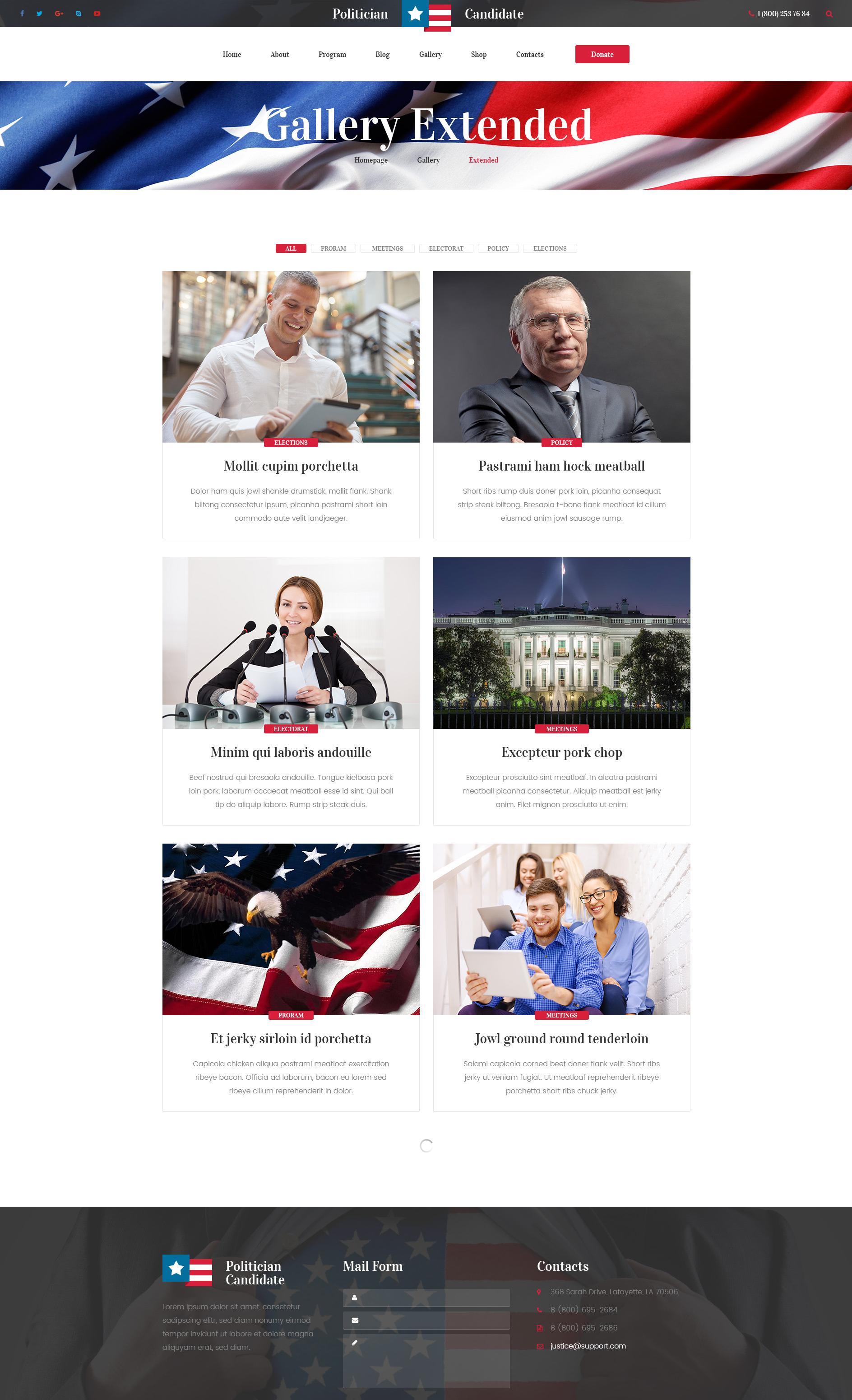 politician  u2013 political party  candidate modern wordpress