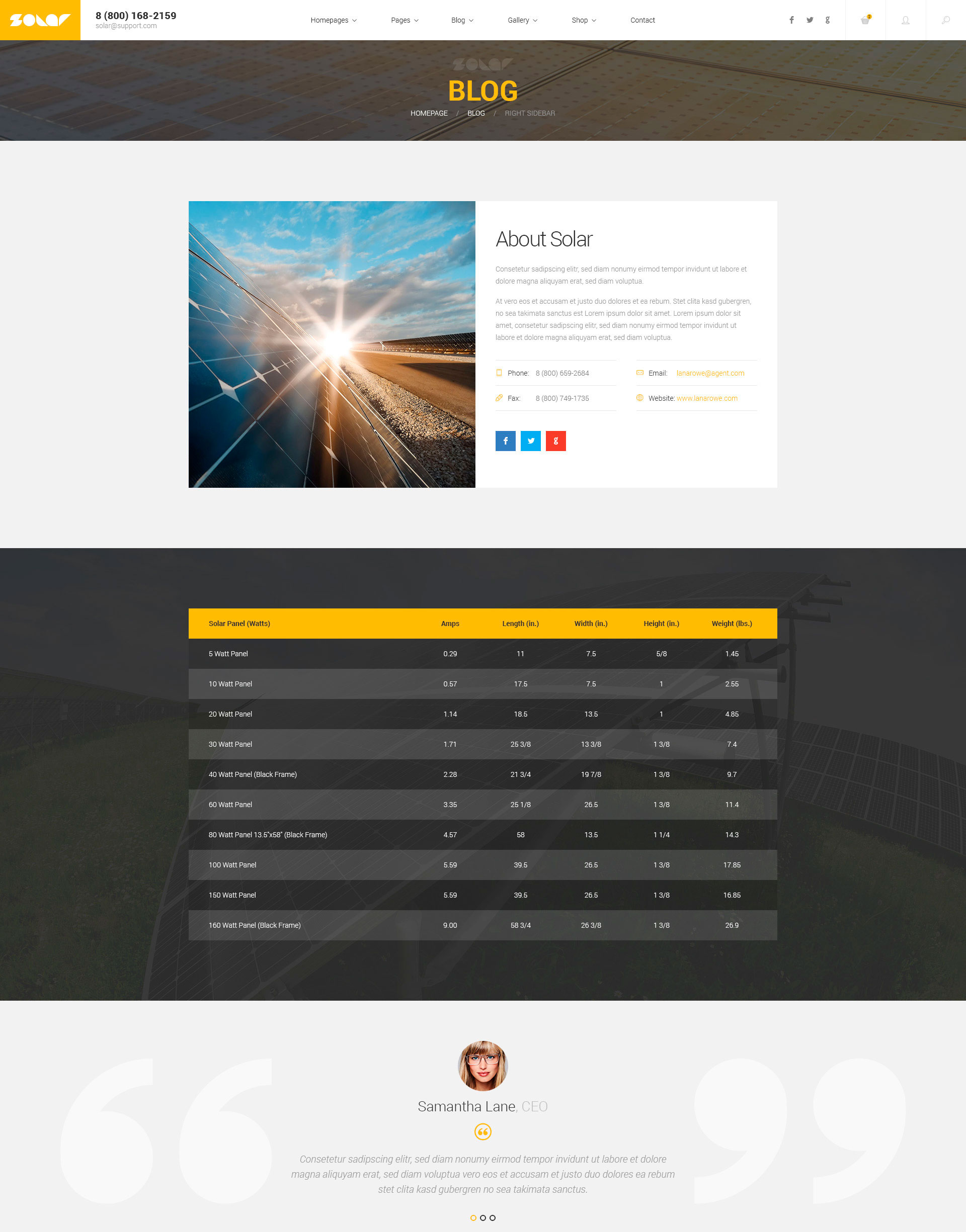 Solar – Renewable Energy Sinlge&Multipage HTML Template | Modern Web ...