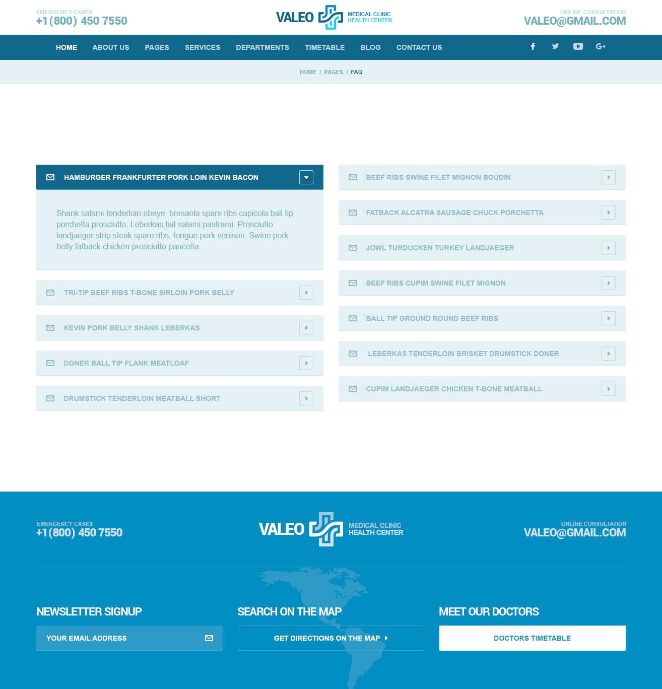 Valeo – Health Center WordPress Theme | Modern Web Templates