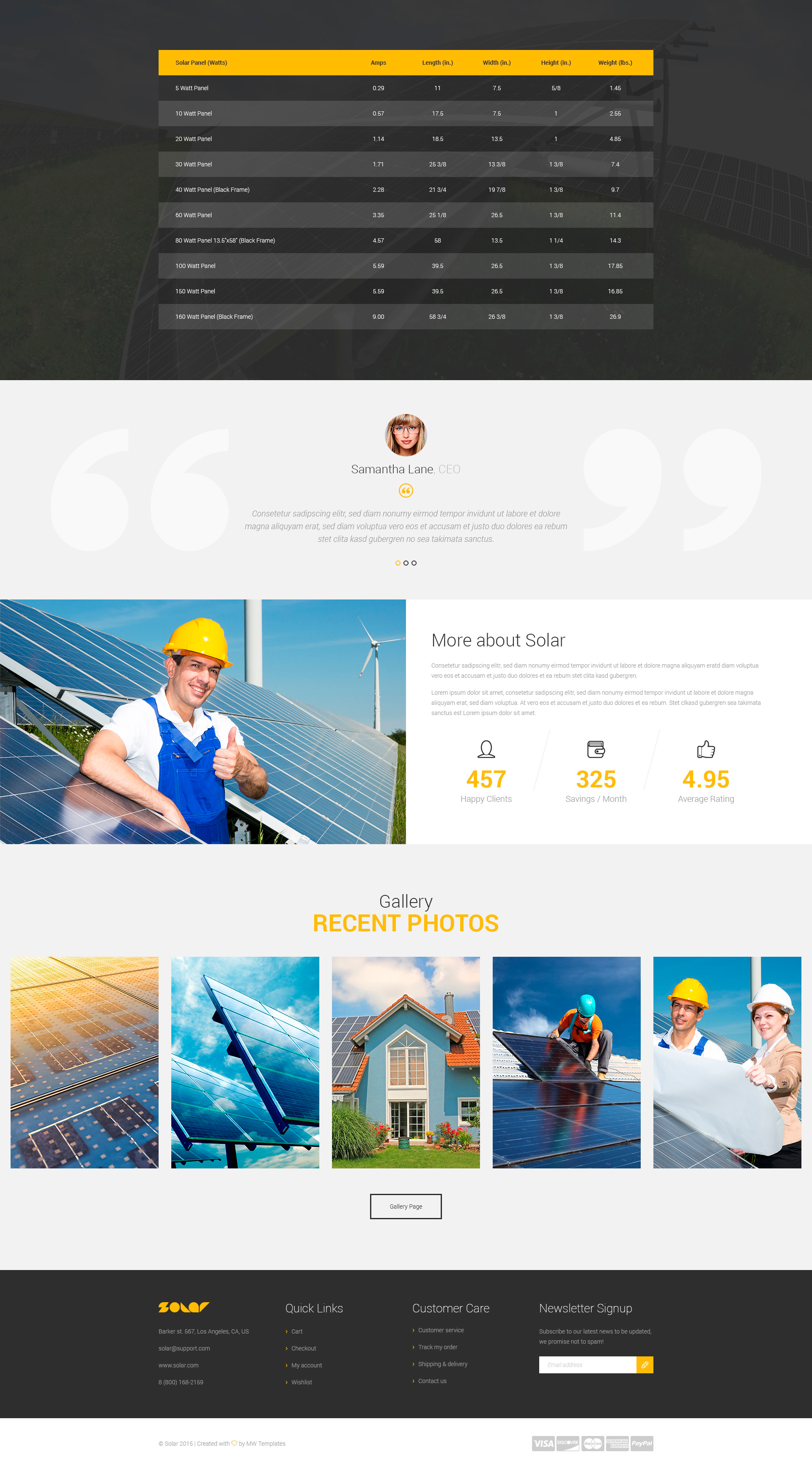 Solar Energy Wordpress Theme Modern Web Templates