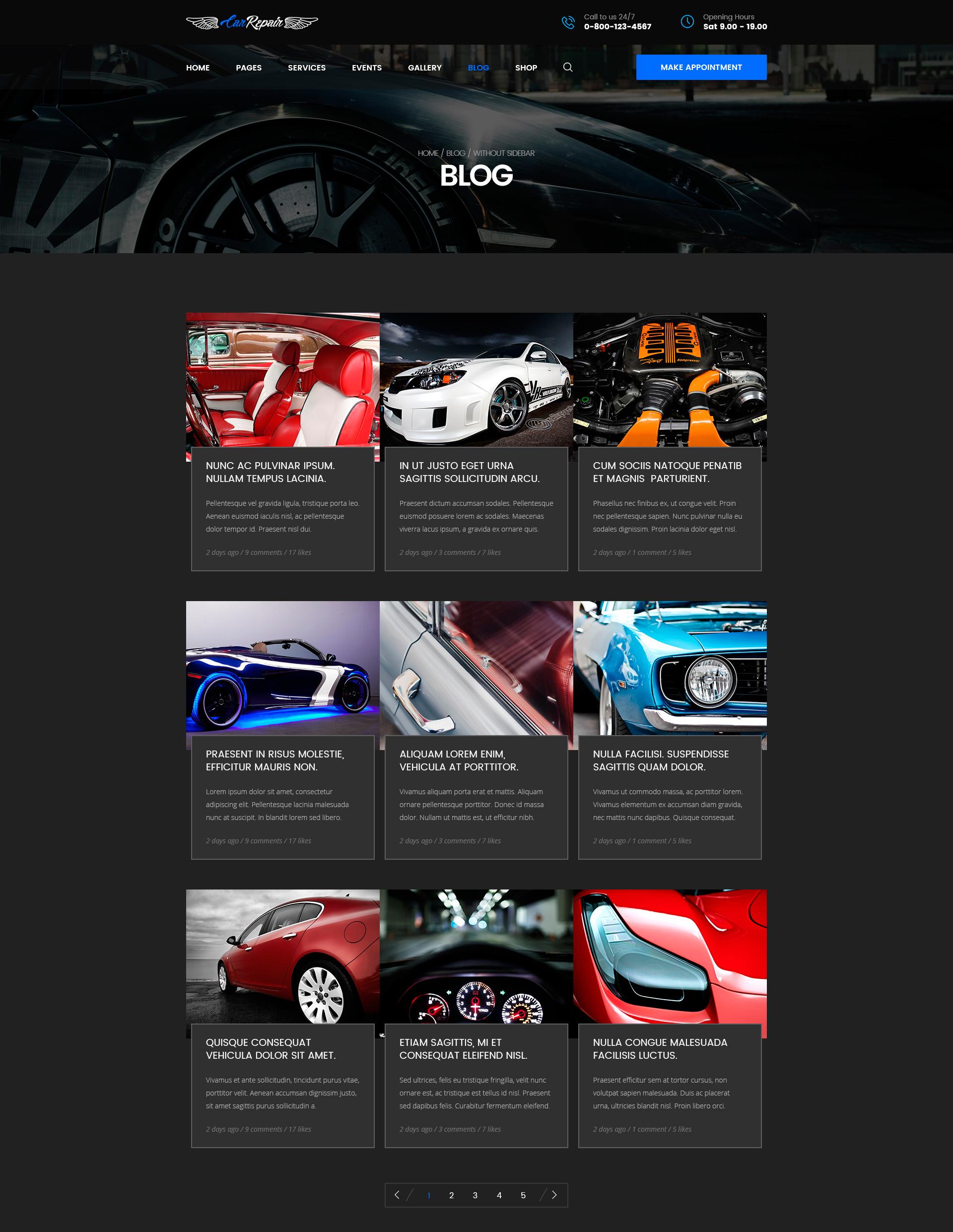 Mechanic – Car Repair, Tuning, Routine Maintenance HTML Template ...