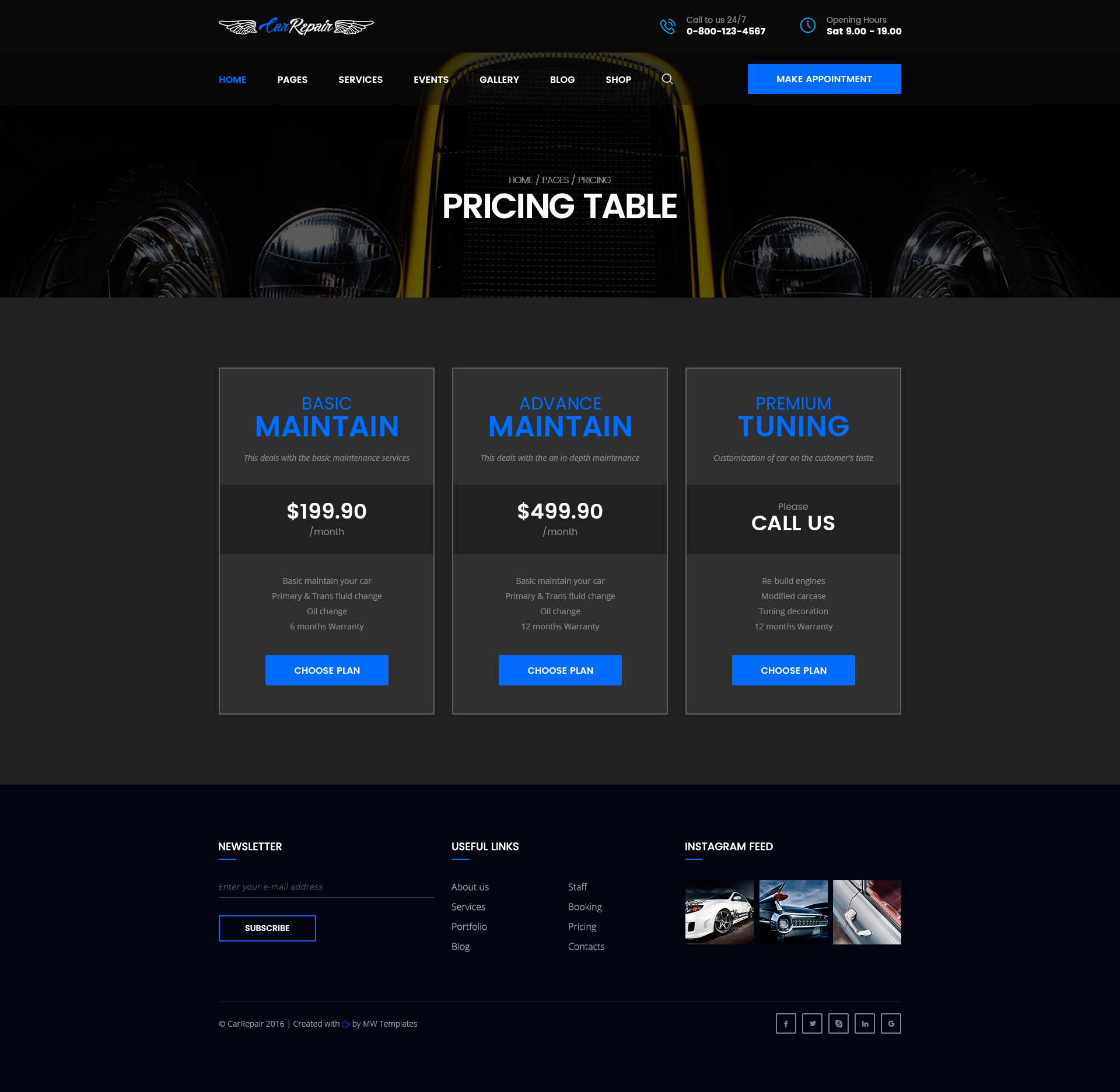Mechanic – Car Repair, Tuning, Routine Maintenance HTML Template ...