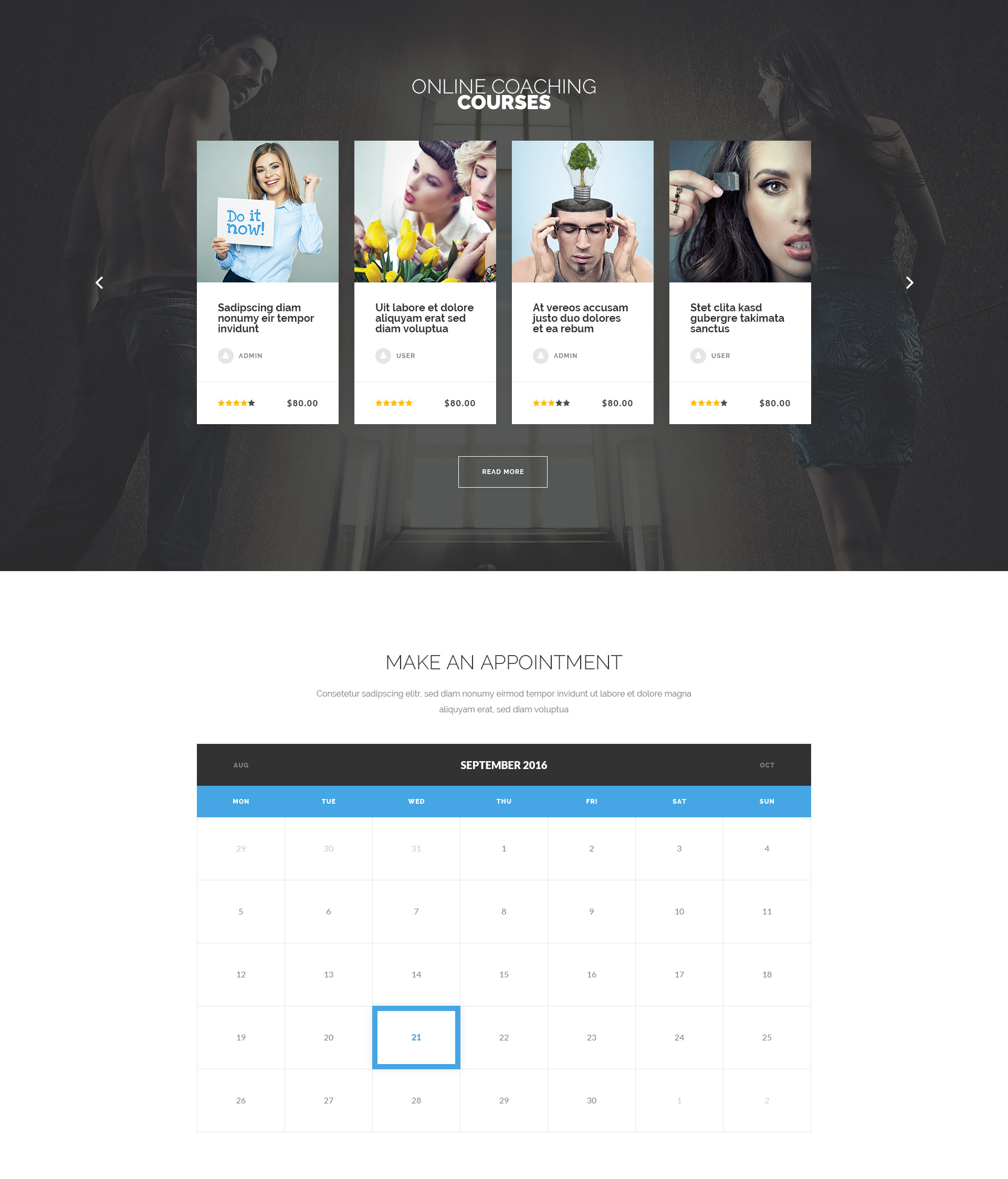 LifeGuide – Personal and Life Coach HTML Template   Modern Web Templates