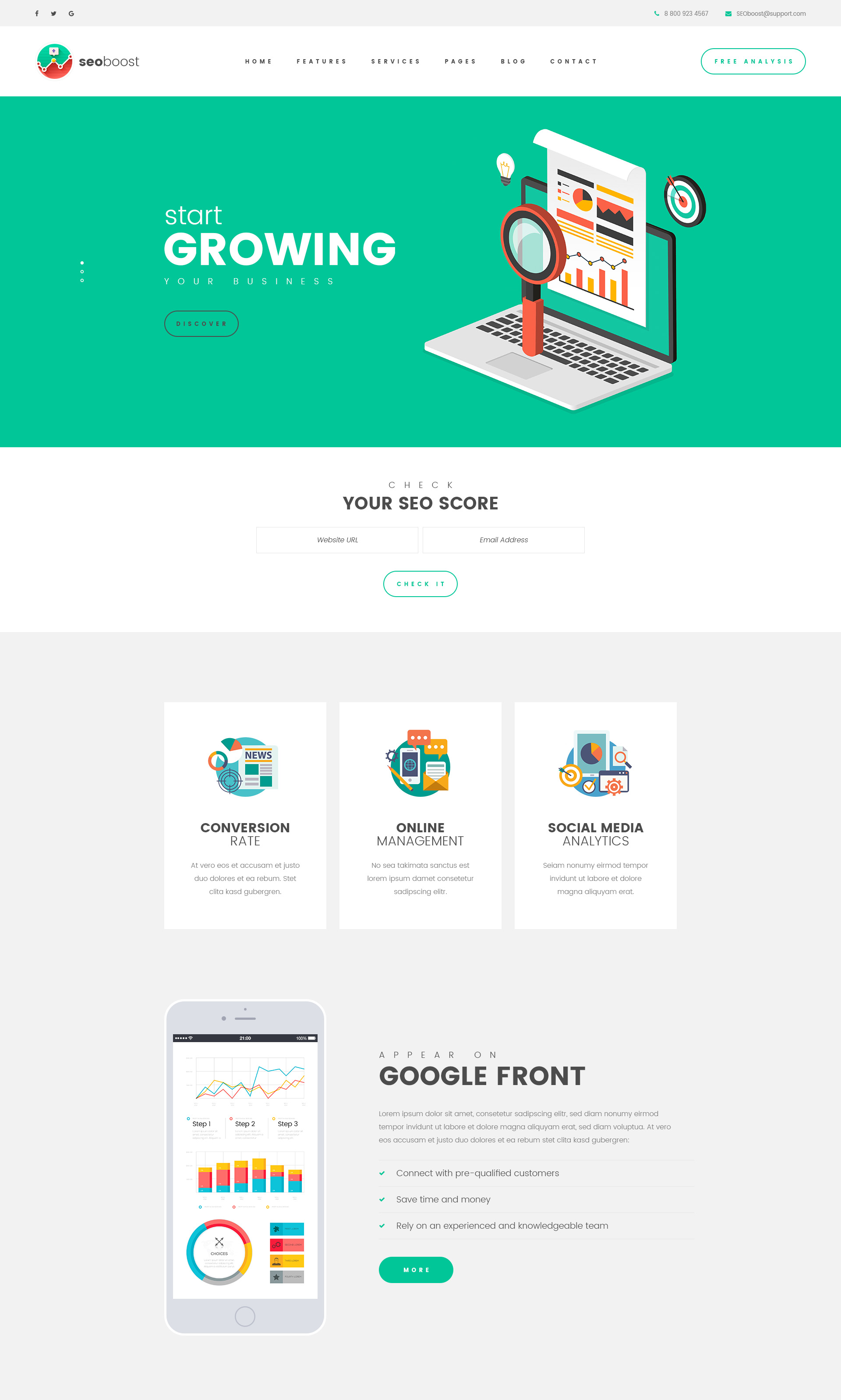 SEO Boost – SEO/Digital Company HTML Template with Visual Builder ...