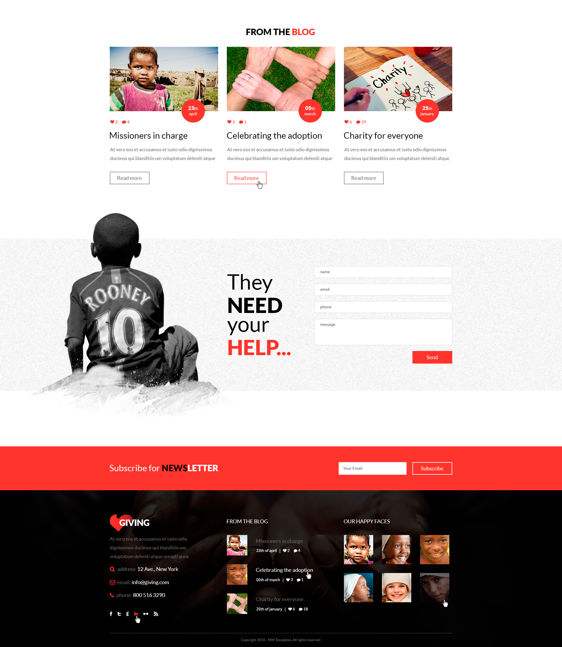 Giving U2013 NGO And Charity HTML Template  Ngo Templates