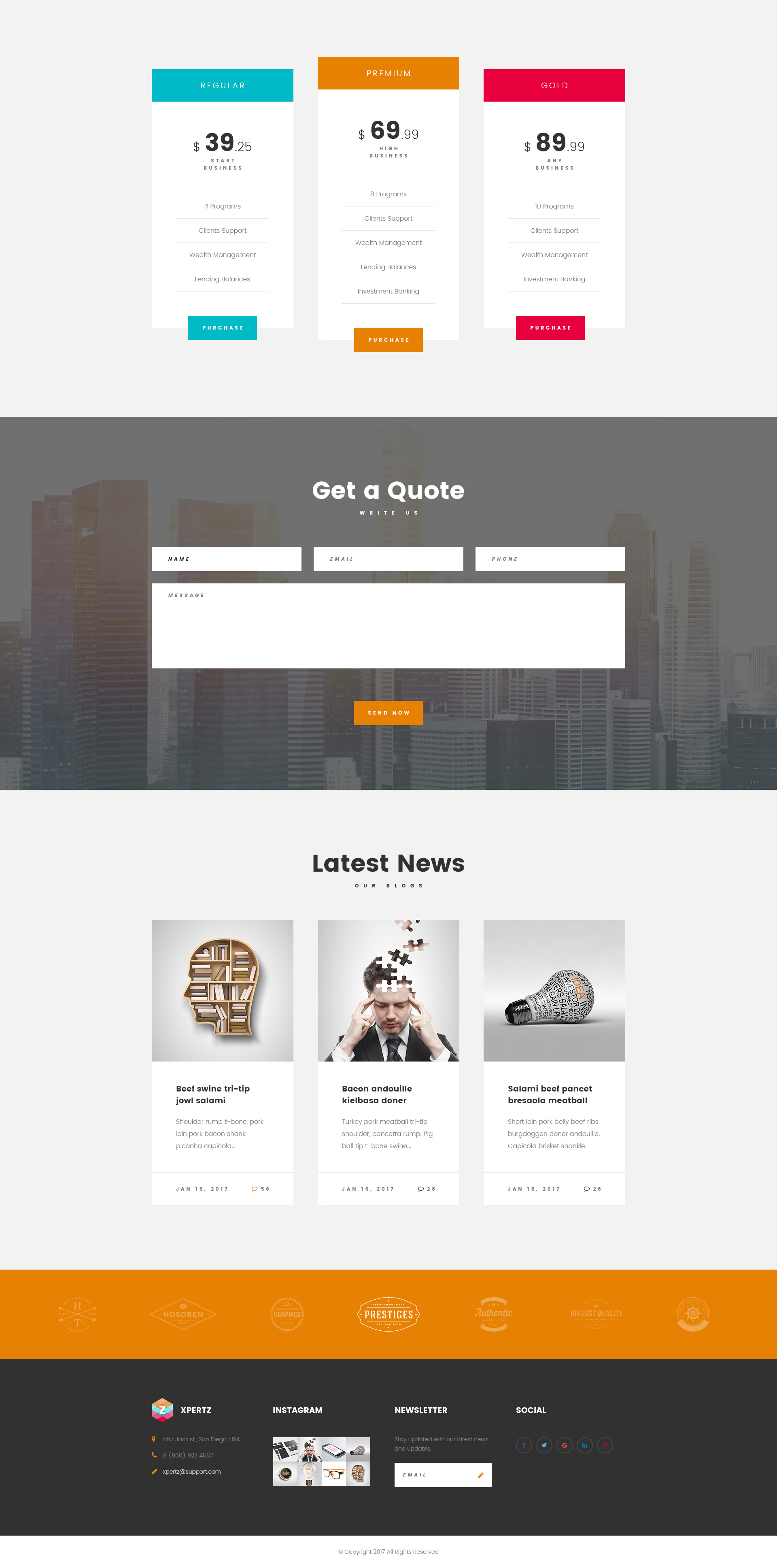 Xpertz Corporate Business Company Html Template With