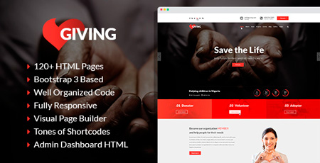 Giving – NGO And Charity HTML Template | Modern Web Templates