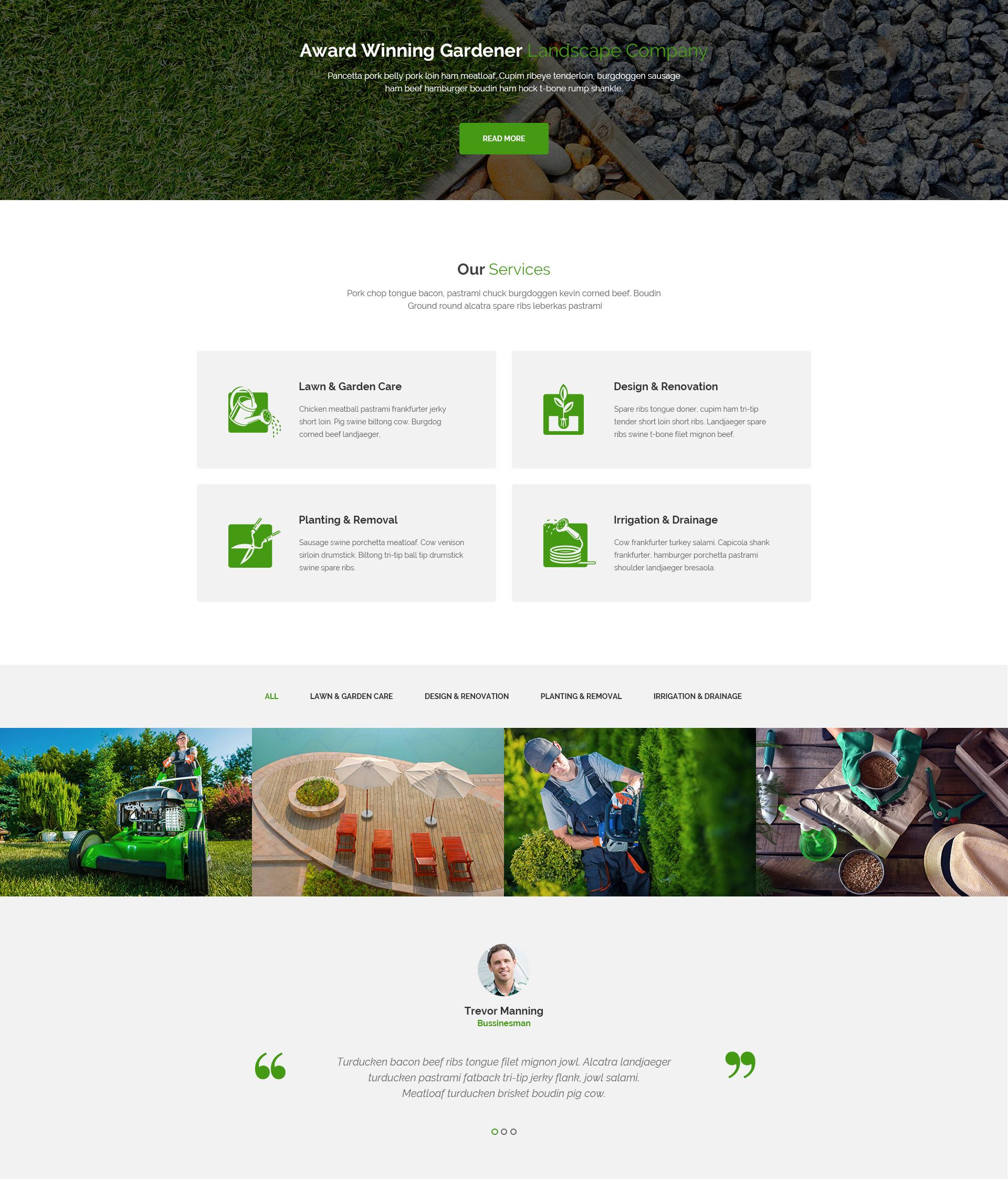 Greenscape – Lawn & Garden Landscaping HTML template   Modern Web on garden park logos, garden club logos, garden logos design, garden nursery logos,