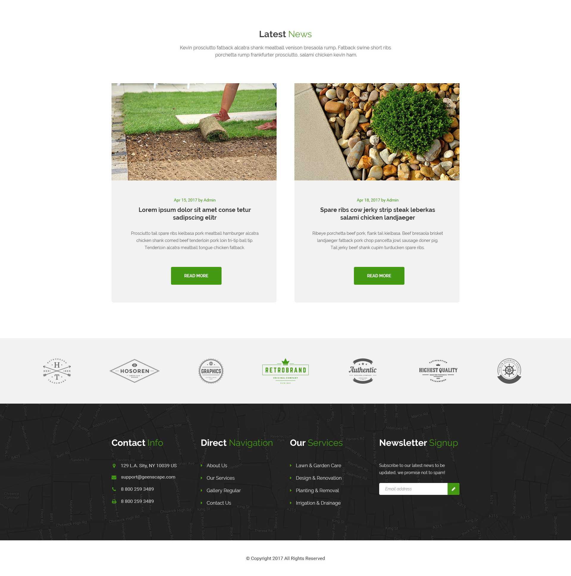 Greenscape U2013 Lawn U0026 Garden WordPress Theme