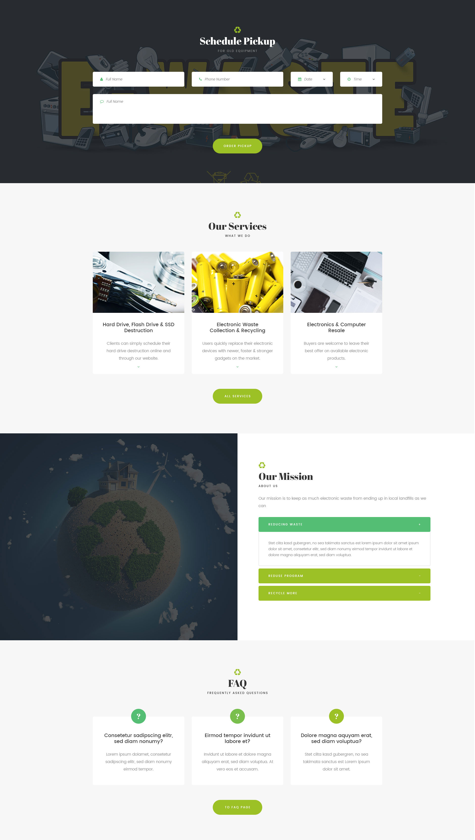 GoGreen – Waste Management and Recycling HTML Template | Modern Web ...