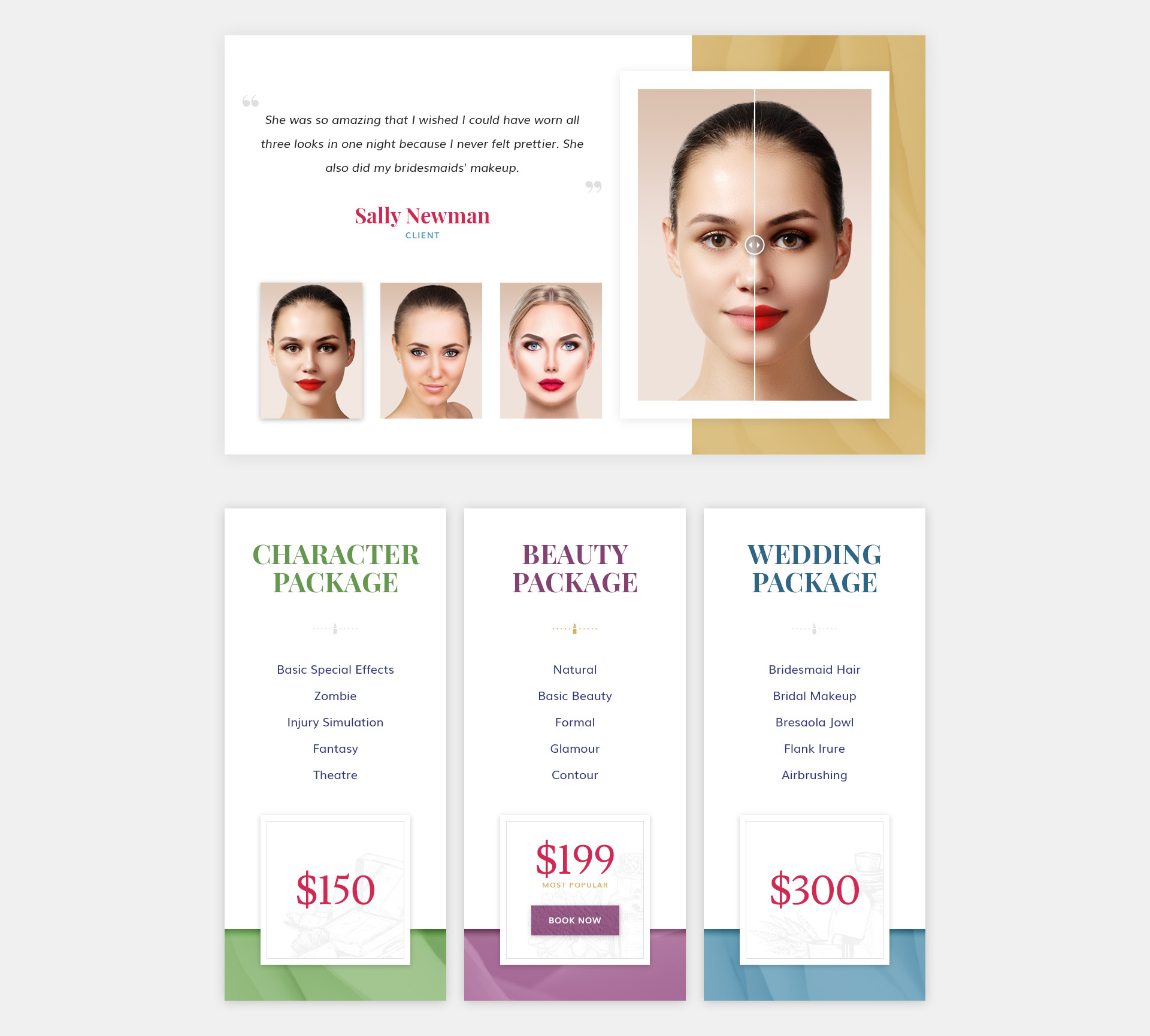 Makeup artist pro makeup beauty and hair stylist for Cosmetology portfolio template