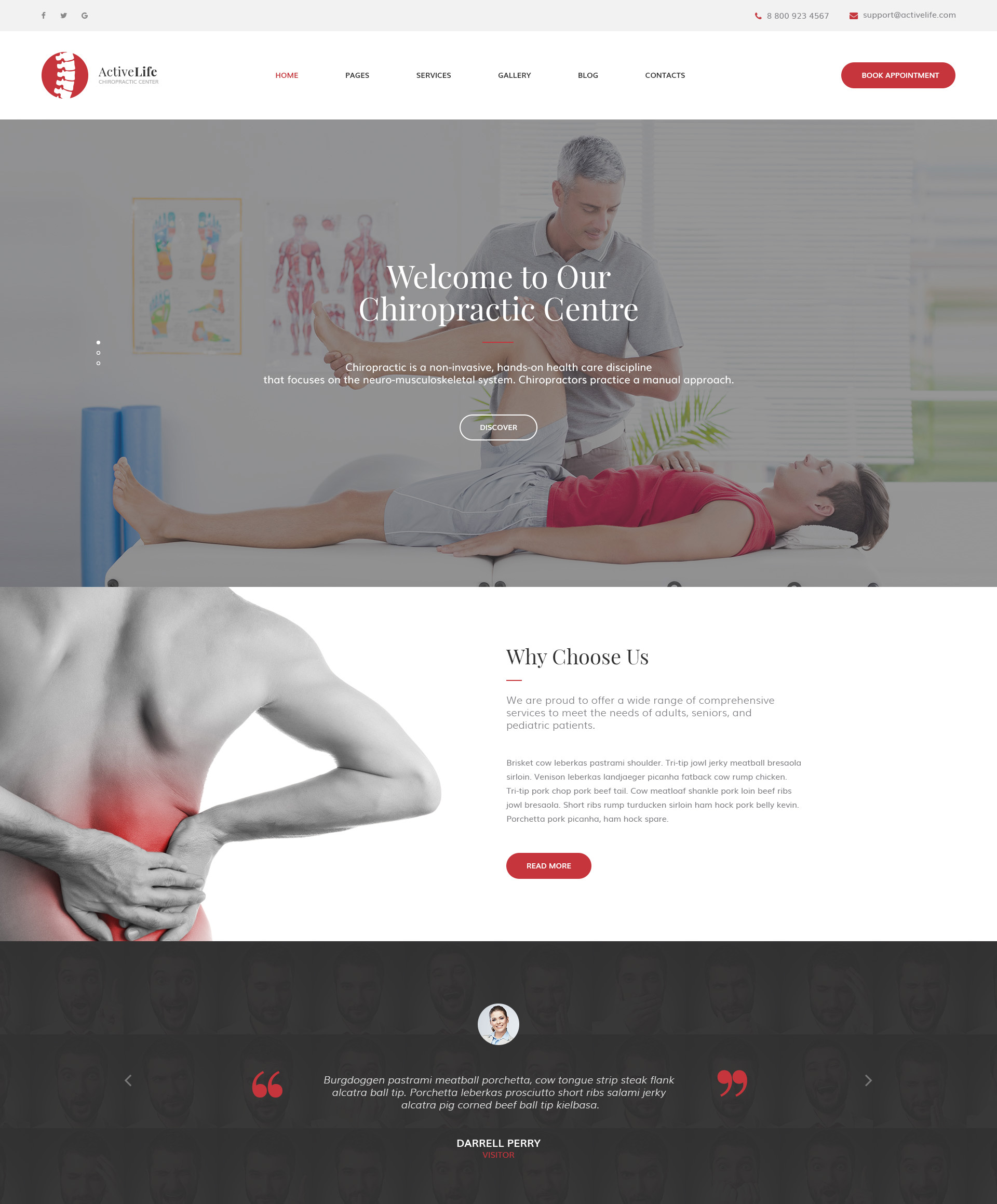Active - Chiropractor Website Template | Modern Web Templates