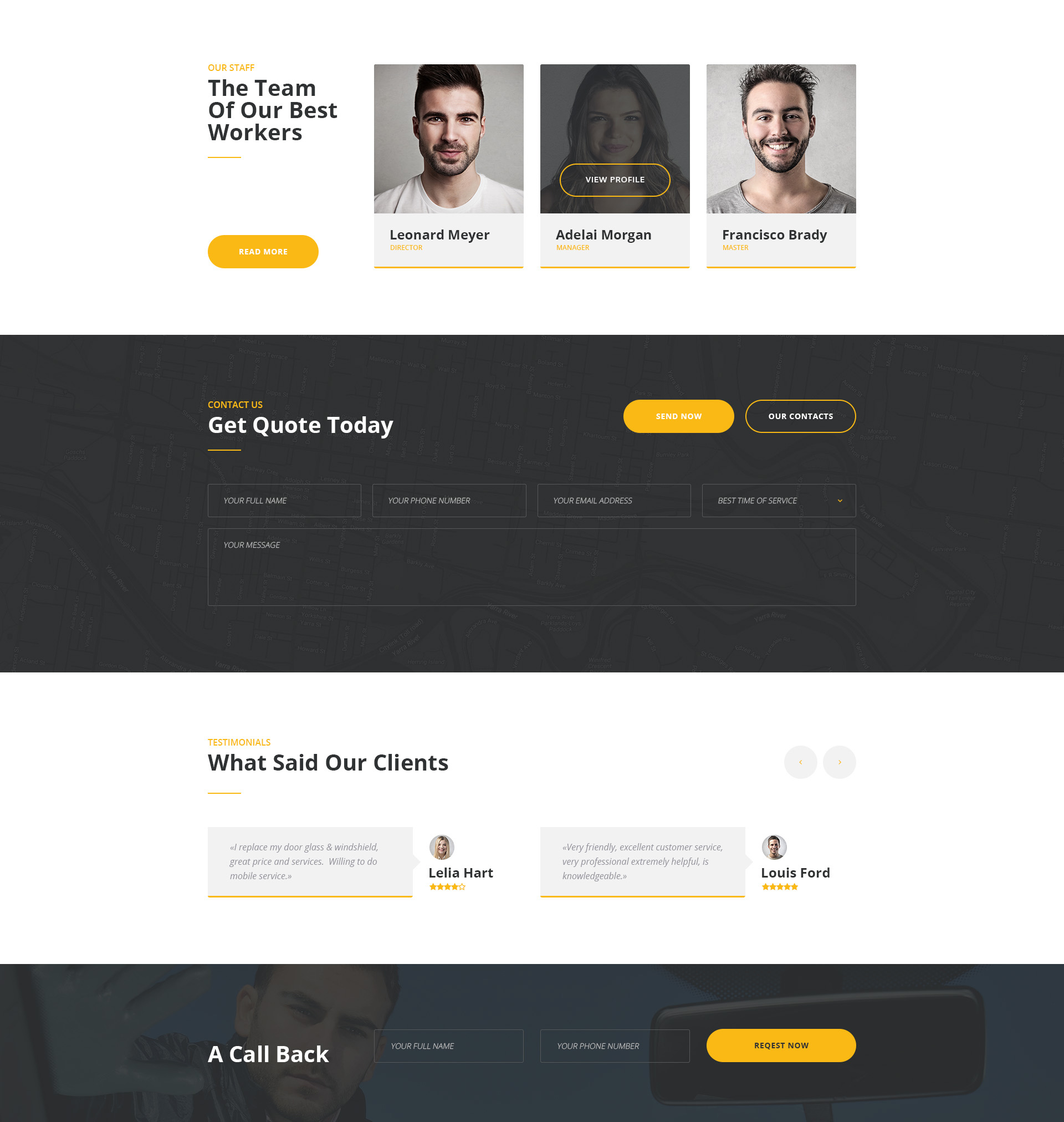 ClearView - Glass Repair And Replacement Template | Modern Web ...