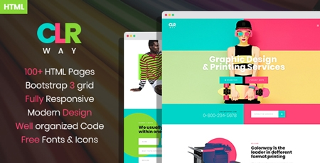 colorway printing service html template modern web templates